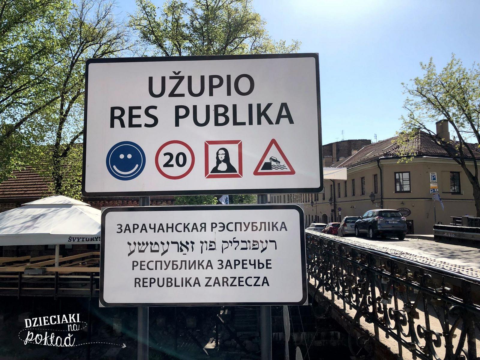 Litwa- Wilno, republika Uzupis