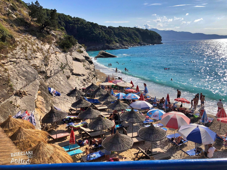 Albania - plaża w okolicy Ksamil