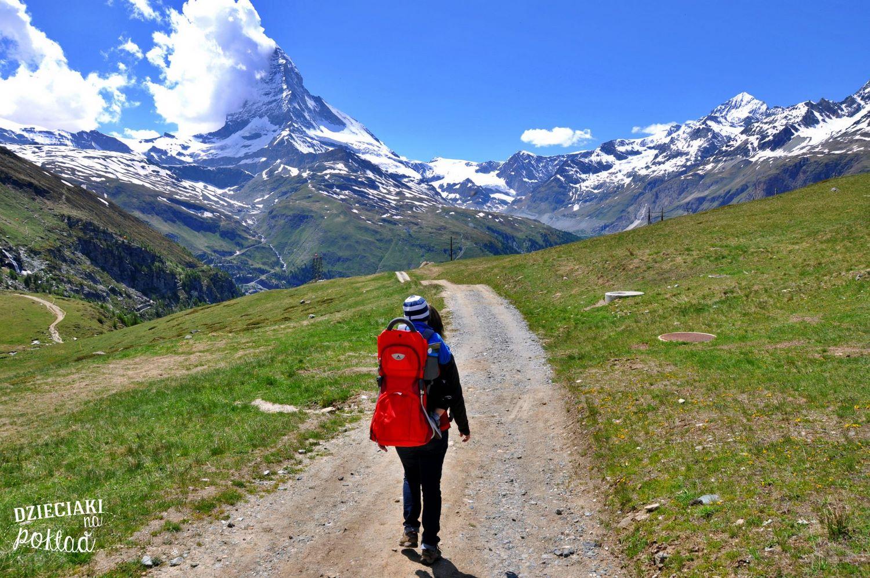 Podróże z dziećmi - Szwajcaria, widok na Matterhorn