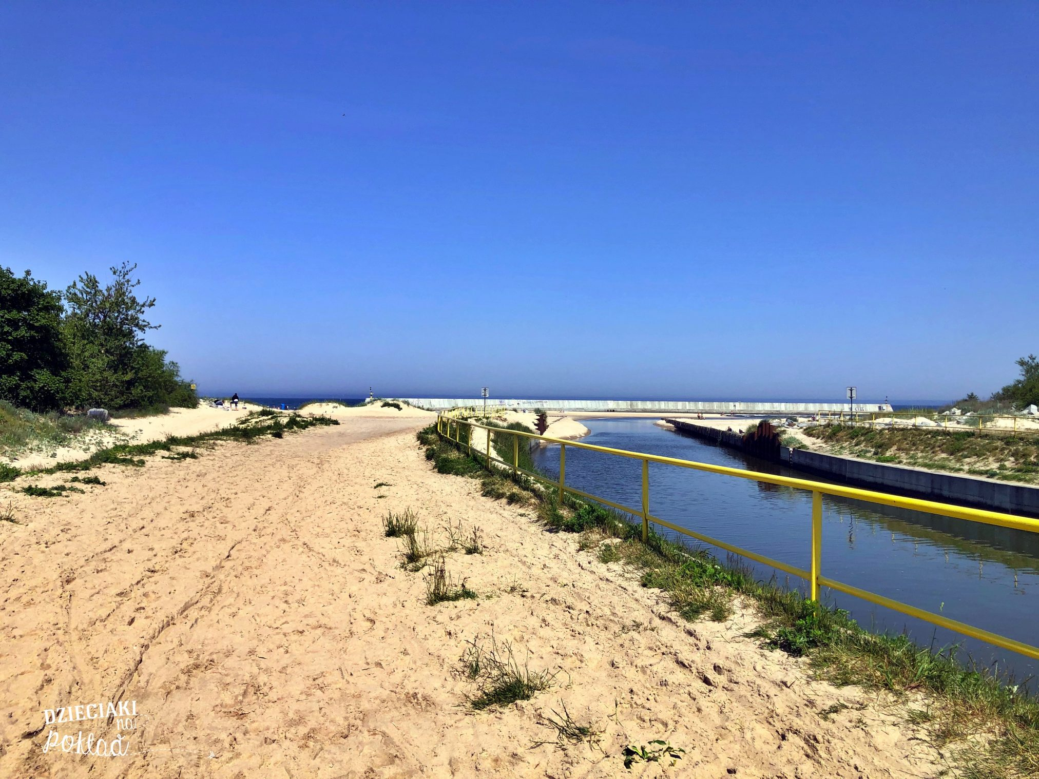 nad polskim morzem - Kanał Jamneński